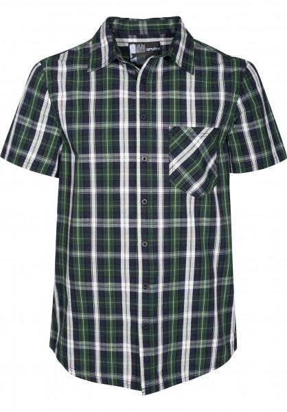 Rules Hemden kurzarm Jesper green-checked Vorderansicht
