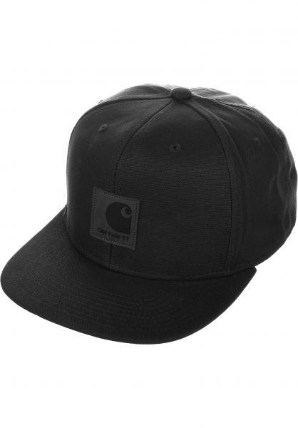Carhartt WIP Caps Logo black Vorderansicht