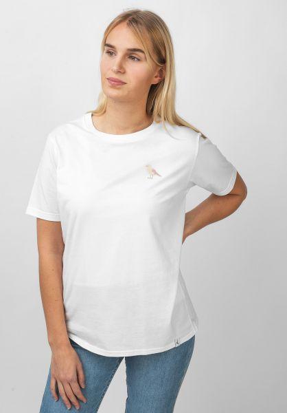 Cleptomanicx T-Shirts Embroidery Gull white vorderansicht 0321038