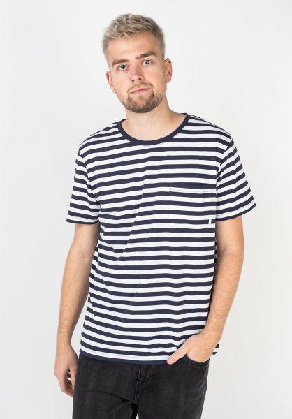 Makia T-Shirts Verkstad navy-white vorderansicht 0396215