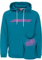 Santa-Cruz Hoodies Oval Dot capri-blue Vorderansicht