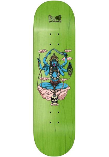 Cruzade Skateboard Decks Kali green vorderansicht 0263574