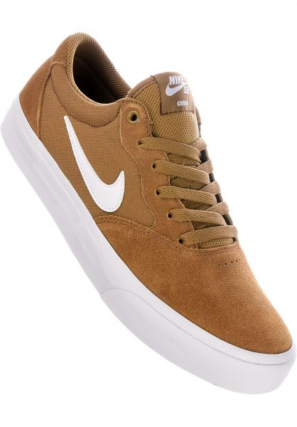 Nike SB Alle Schuhe Chron SLR goldenbeige-white vorderansicht 0604588