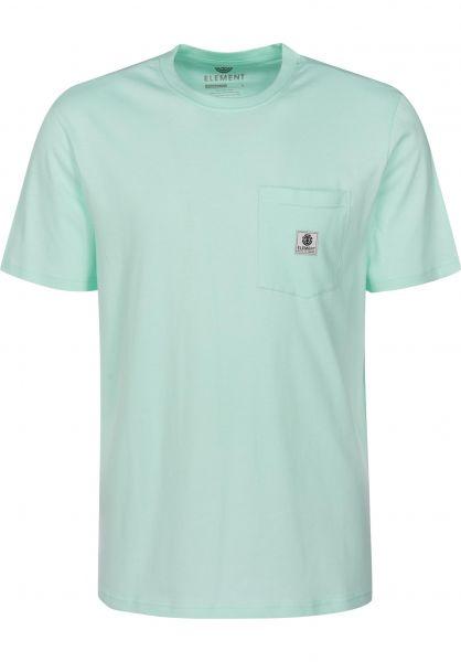 Element T-Shirts Basic Pocket Label brookgreen Vorderansicht