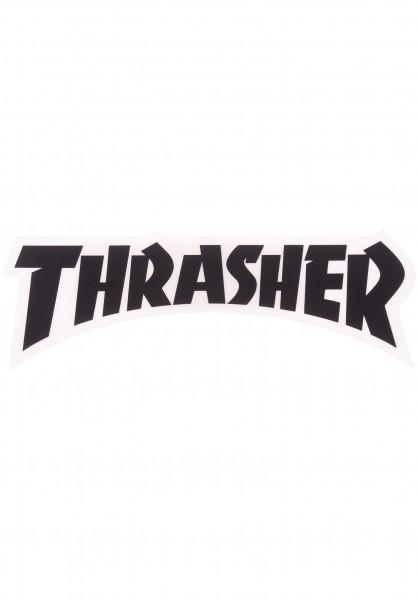 Thrasher Verschiedenes Die Cut Logo Sticker black Vorderansicht