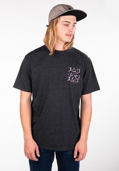 TITUS T-Shirts Graphic Pocket darkgreymottled vorderansicht 0397636
