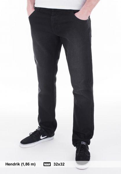 Rebel Rockers Jeans Middleclass black Vorderansicht