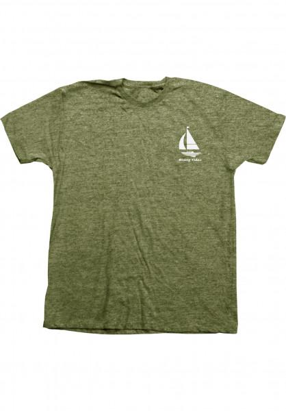 Habitat T-Shirts Rising Tides greenmottled Vorderansicht
