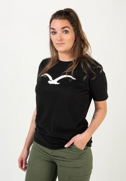 Cleptomanicx T-Shirts Möwe black vorderansicht 0364540