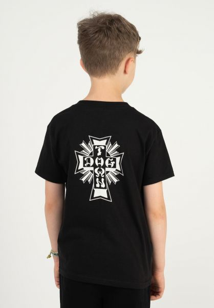 Dogtown T-Shirts Cross Logo Youth black vorderansicht 0323987