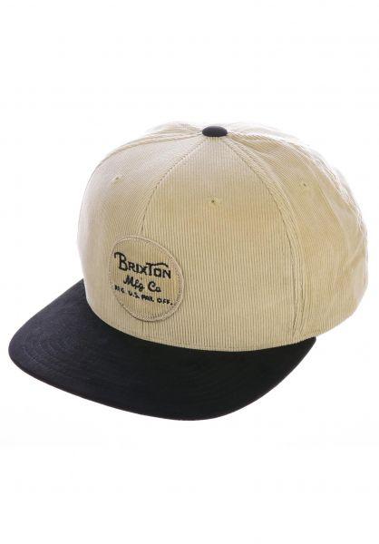 Brixton Caps Wheeler black-vanilla vorderansicht 0564653
