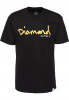 Diamond T-Shirts OG Script black-yellow Vorderansicht