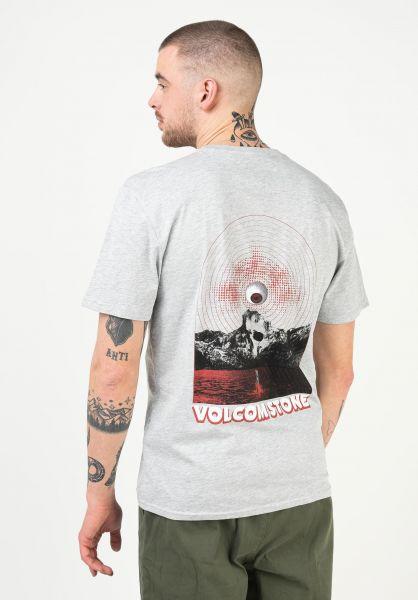 Volcom T-Shirts Dither heathergrey vorderansicht 0323491
