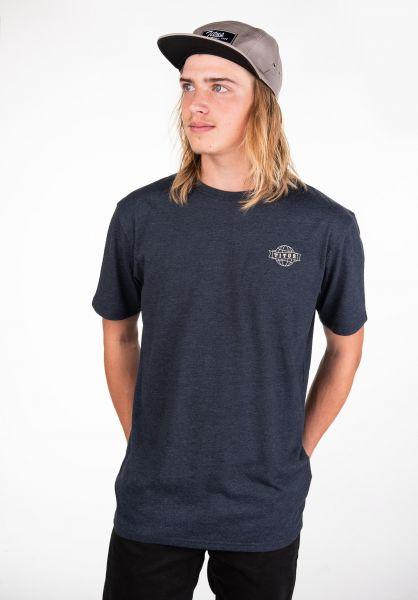 TITUS T-Shirts Peppino Backprint deepnavymottled vorderansicht 0397515