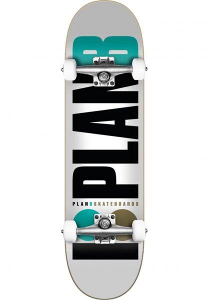 Plan-B Skateboard komplett Team OG white-black-blue vorderansicht 0162444