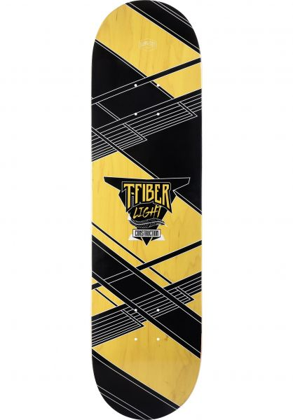 TITUS Skateboard Decks Futuristic Power T-Fiber Light black-yellow vorderansicht 0261807