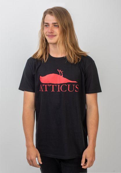 Atticus T-Shirts Brand Logo black vorderansicht 0399860