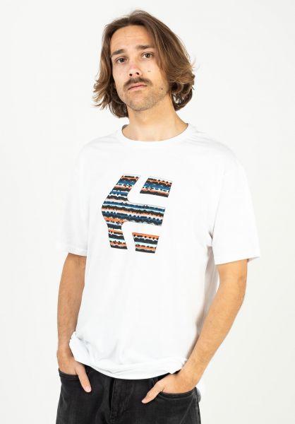 etnies T-Shirts Icon Print white-blue vorderansicht 0323517