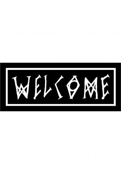 Welcome Verschiedenes Scrawl black-white vorderansicht 0170413