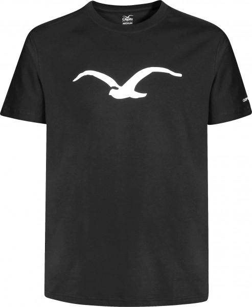 Cleptomanicx T-Shirts Möwe black-white Vorderansicht