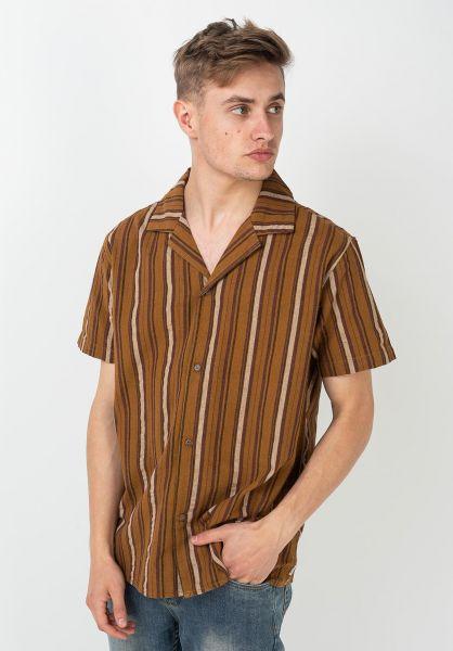 Rhythm Hemden kurzarm Vacation Stripe almond vorderansicht 0400996