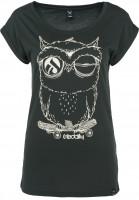 iriedaily T-Shirts Skateowl 2 darkgreen-melange Vorderansicht