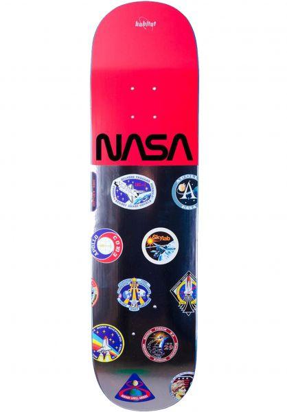 Habitat Skateboard Decks x Nasa Logo Array red vorderansicht 0262775