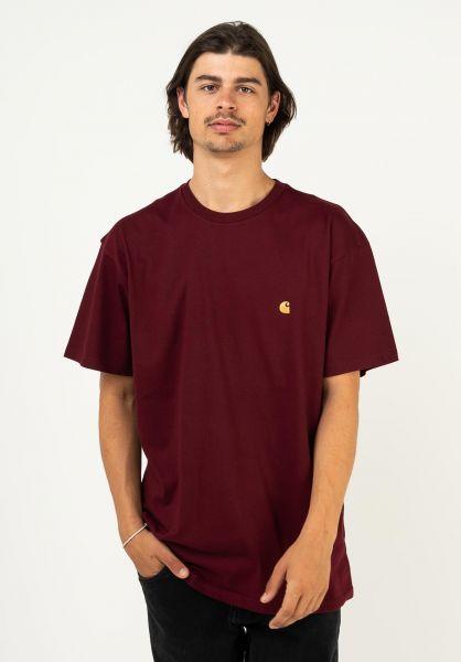 Carhartt WIP T-Shirts Chase jam-gold vorderansicht 0396618
