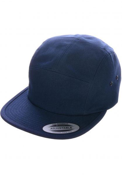 Flexfit Caps Jockey Cap navy rueckenansicht 0566390
