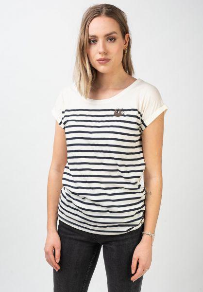 iriedaily T-Shirts Slothy Stripe offwhite vorderansicht 0321124