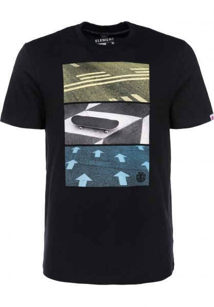 Element T-Shirts Direction flintblack Vorderansicht
