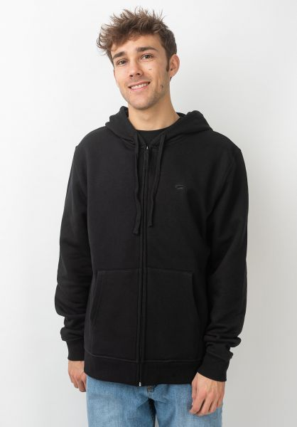 Rules Zip-Hoodies Lambda black vorderansicht 0452114