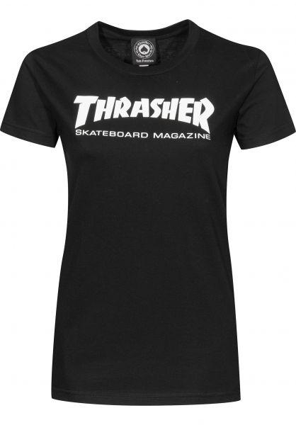 Thrasher T-Shirts Skate Mag Girls black Vorderansicht