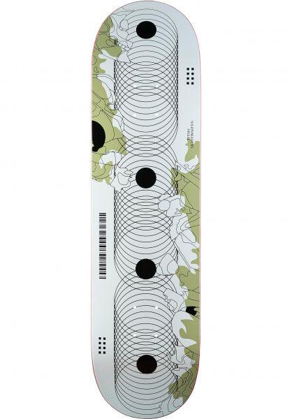 TITUS Skateboard Decks Codescape white-olive vorderansicht 0265925