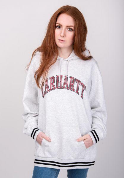 Carhartt WIP Hoodies W' Hooded Knowledge ashheather vorderansicht 0445064