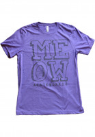 Meow Skateboards T-Shirts Stacked Logo heatherpurple Vorderansicht