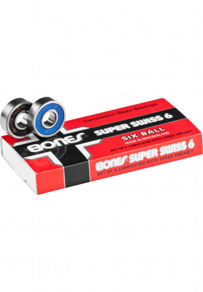 Bones Bearings Kugellager Super Swiss 6 Balls no color Vorderansicht