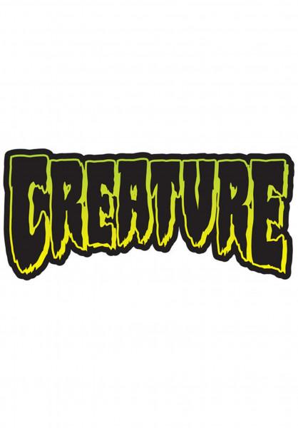 """Creature Verschiedenes Logo Decal 4"""" clear Vorderansicht"""