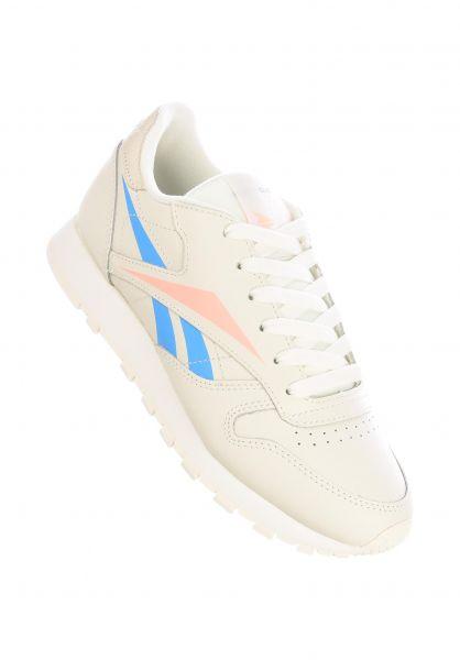 Reebok Alle Schuhe CL LTHR chalk-creamwhite-sunglow vorderansicht 0612516
