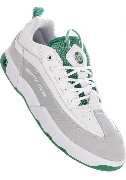 DC Shoes Alle Schuhe Legacy 98 Slim S white-white-green vorderansicht 0604571