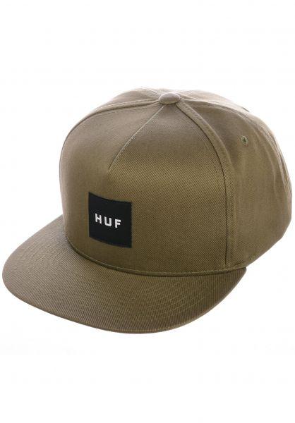 HUF Caps Box Logo Snapback martini-olive vorderansicht 0562974