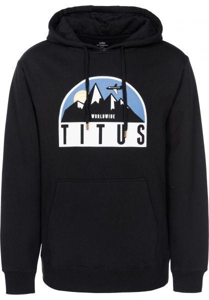TITUS Hoodies Explorer black vorderansicht 0444849
