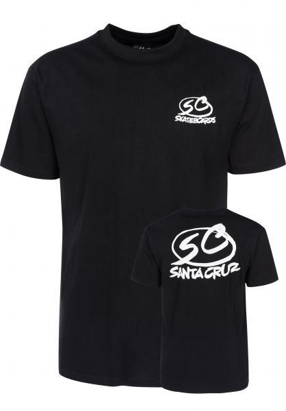 Santa-Cruz T-Shirts Pro Series black Vorderansicht