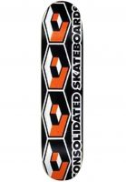 Consolidated-Skateboard-Decks-4-Cubes-black-orange-Vorderansicht