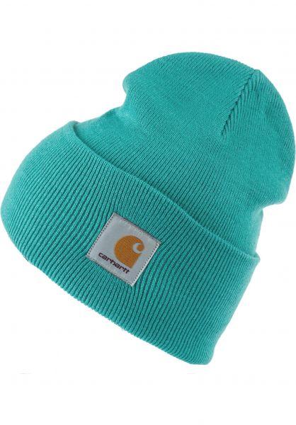 Carhartt WIP Mützen Acrylic Watch Hat frostedturquoise vorderansicht 0570844