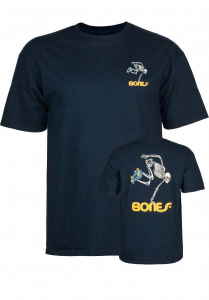 Powell-Peralta T-Shirts Skateboard Skeleton navy Vorderansicht