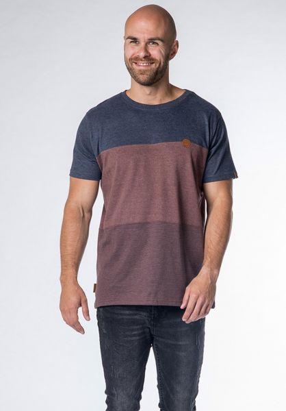 alife and kickin T-Shirts Ben B puce-stripes vorderansicht 0320763
