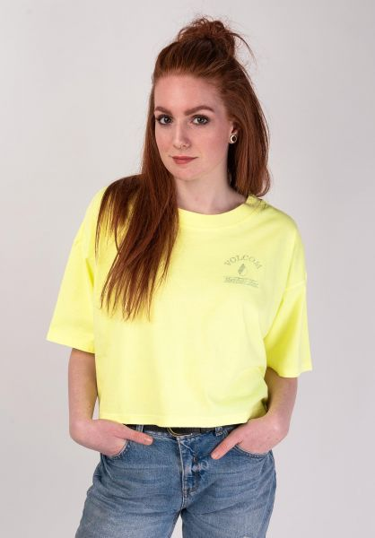 Volcom T-Shirts Neon And On neonyellow vorderansicht 0399658