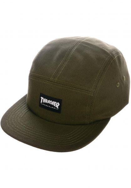 Thrasher Caps 5-Panel Hat army vorderansicht 0562710