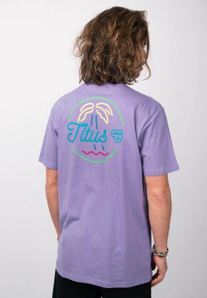 TITUS T-Shirts Neon-Backprint violet closeup2 0398381